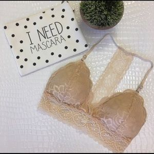Padded Nude Lace Bralette